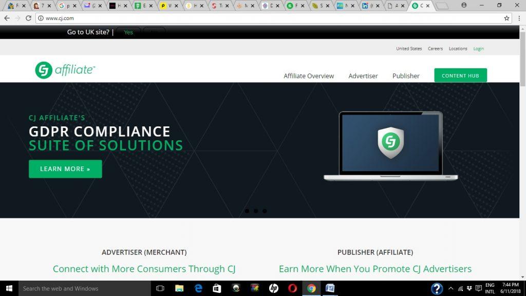 CJ affiliate Commission Junction